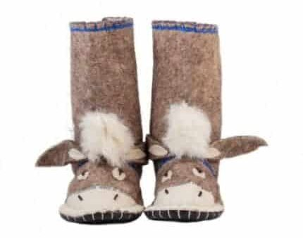 brown donkey felt boot woolenstocks