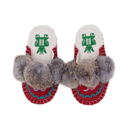 elegent red boo felt slipper woolenstocks