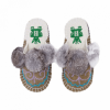 embroidered ash boo felt slipper woolenstocks
