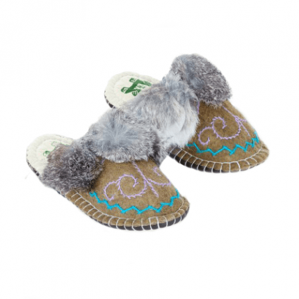 embroidered ash boo felt slipper woolenstocks-3
