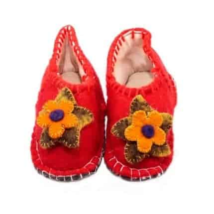 ferrari flower huga felt slipper woolenstocks