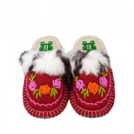 flower maroon kosy slipper woolenstocks