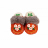flower orange kosy felt slipper woolenstocks
