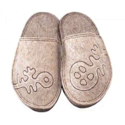 grey lung felt slipper woolenstocks
