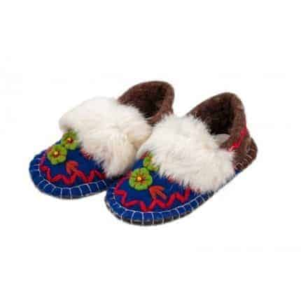 jade navy huga felt slipper woolenstocks-1