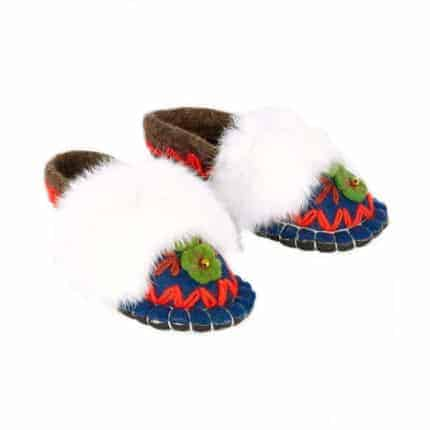 jade navy huga felt slipper woolenstocks-2
