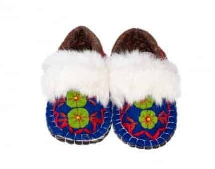 jade navy huga felt slipper woolenstocks