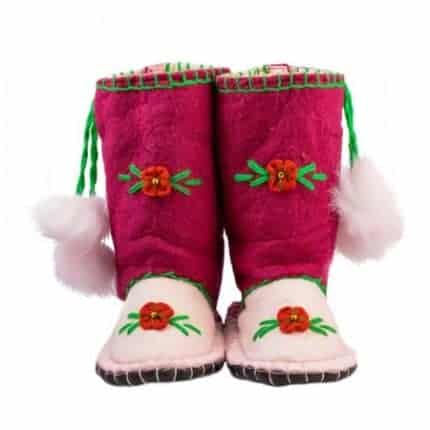 little maroon woogo felt boot woolenstocks
