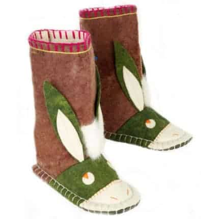 maroon hunter donkey felt boot woolenstocks-1