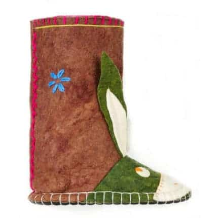 maroon hunter donkey felt boot woolenstocks-2