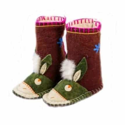 maroon hunter donkey felt boot woolenstocks-3