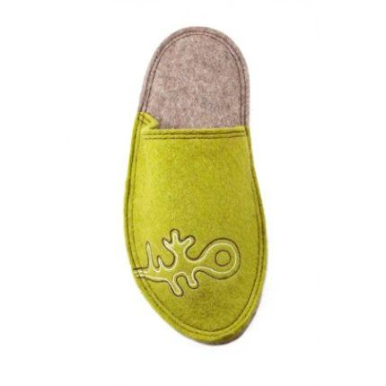 olive lung felt slipper woolenstocks-1