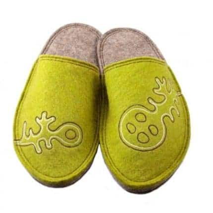 olive lung felt slipper woolenstocks