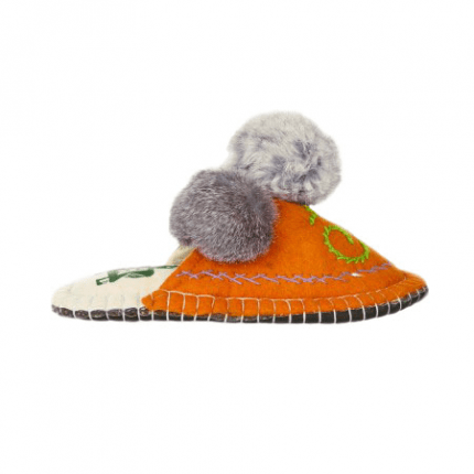 orange boo felt slipper woolenstocks-4