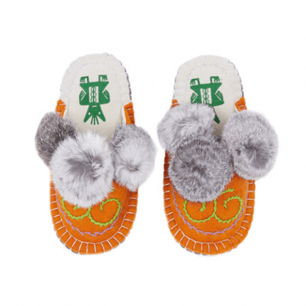 orange boo felt slipper woolenstocks