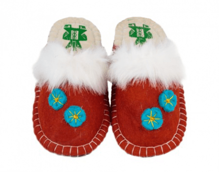 red kosy felt slipper woolenstocks