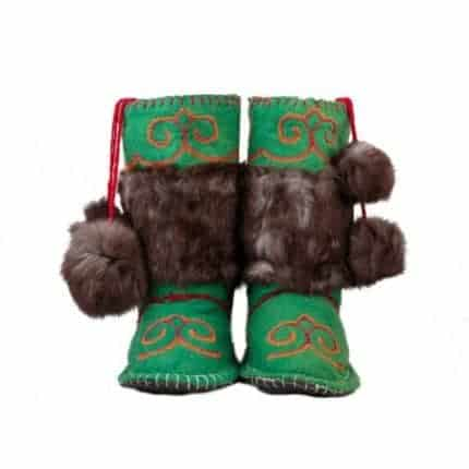 sea green woogo felt boot woolenstocks