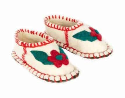 fandango flower huga felt slipper woolenstocks