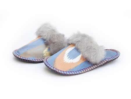 grey ikat kosy slipper woolenstocks 01