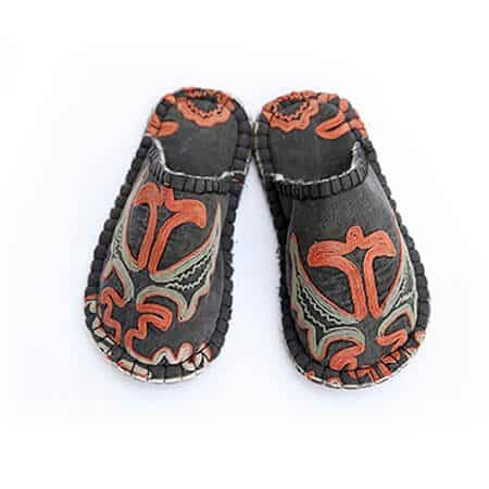 Red Orange Tribal Lungy Slipper