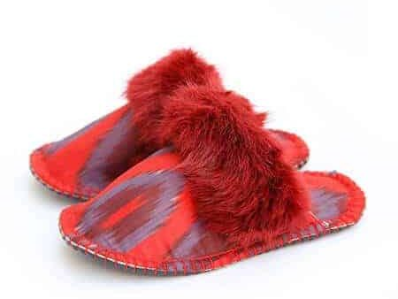real red ikat kosy slipper woolenstocks-1