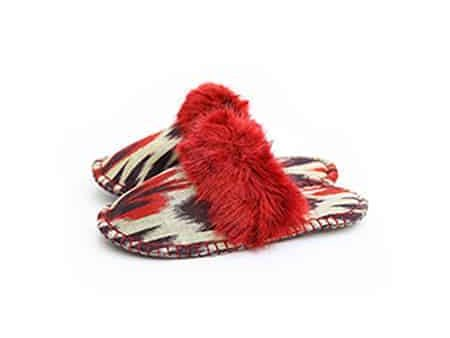 red and black ikat kosy slipper woolenstocks-1