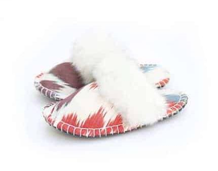 white ikat kosy slipper woolenstocks-1