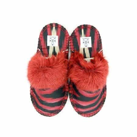 carmine black kosy slipper woolenstocks