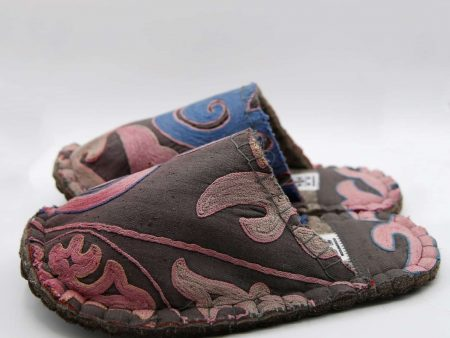 pink tribal lungy slipper woolenstocks