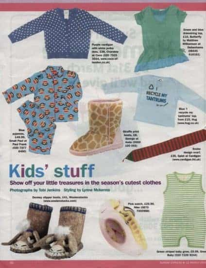 woolenstocks in the press kids stuff