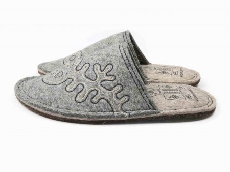 lungy gray felt slipper woolenstocks