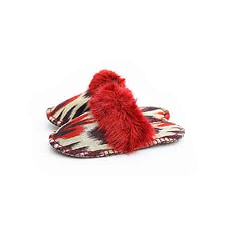 Red and Black Ikat Kosy