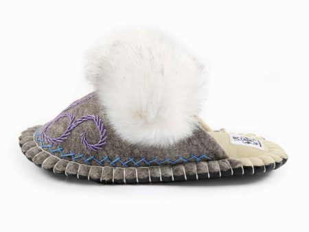 boo gray felt slipper woolenstocks 01