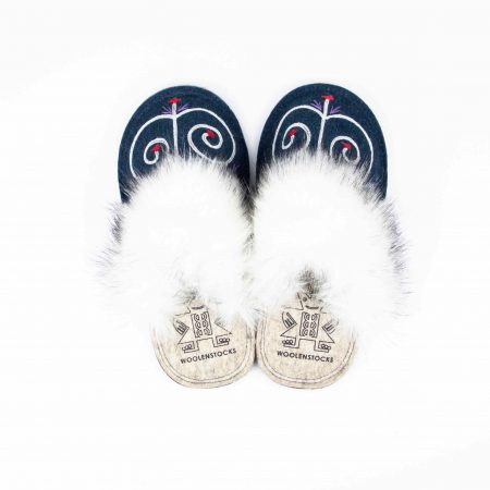 kosy tribale blue slipper woolenstocks 02
