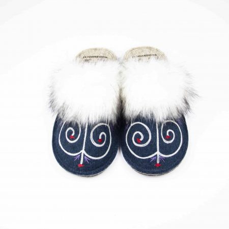 kosy tribale blue slipper woolenstocks 03